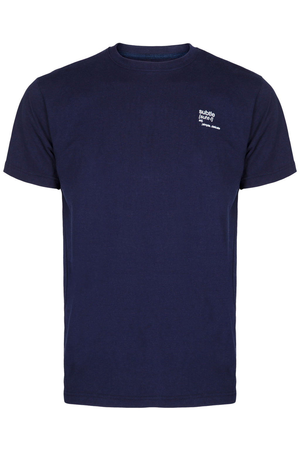 Organic Navy Definition T-Shirt made by subtledk