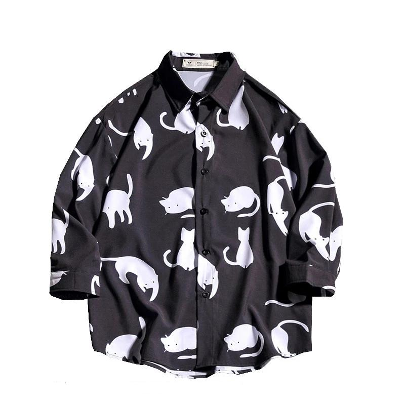 Wao Cat Button Down