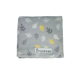 Brooksies Burp Cloth Gold Leaf