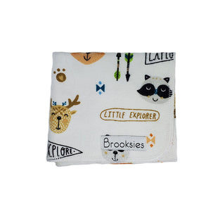 Brooksies Burp Cloth Little Explorer