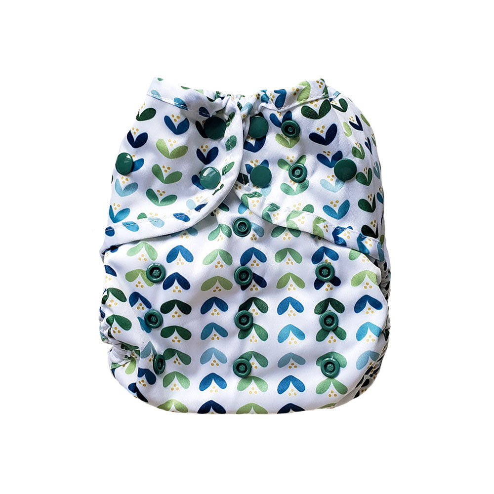 Brooksies Nappy Cover Leafy