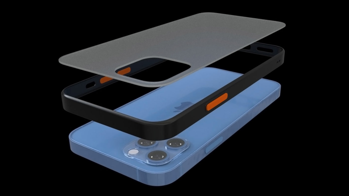 The best iPhone 12 Pro case by Pod Accessories. Frosted clear series offered a finger print, smug free, scratch resistant experience.