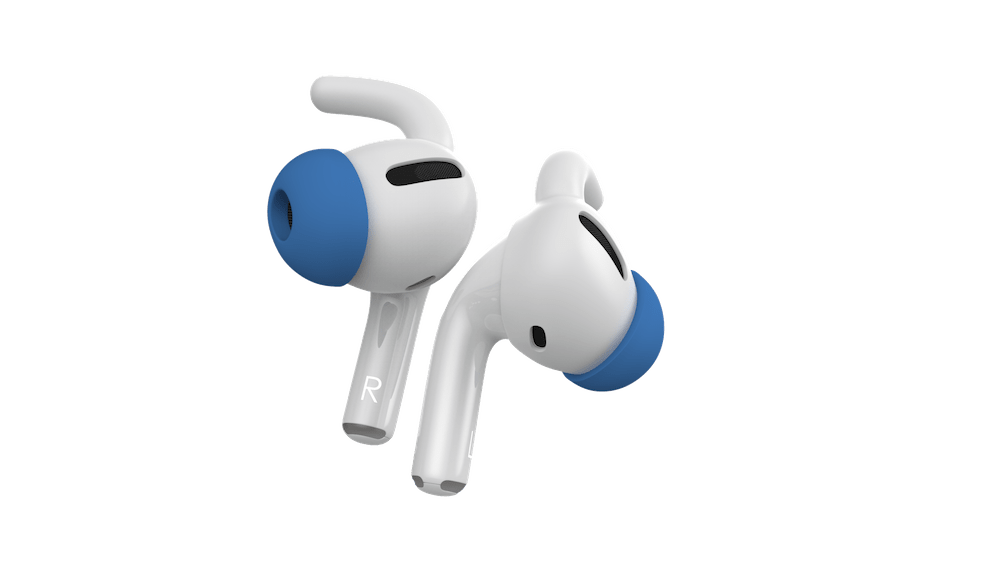 Active Ear Hooks for Apple AirPods Pro with Memory Foam Tips to prevent slipping.