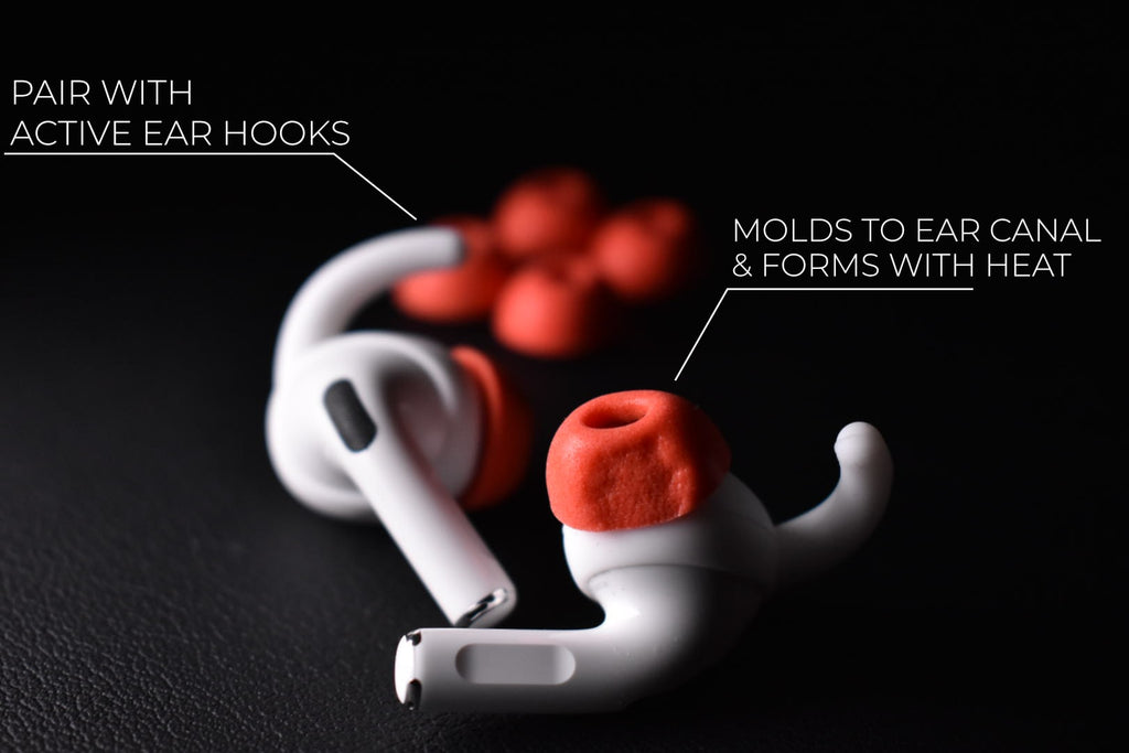 How AirPods Pro memory foam tips replacement silicone work by pod accessories