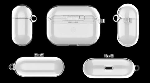 The Cleary Transparent AirPods Pro Case in all angles.