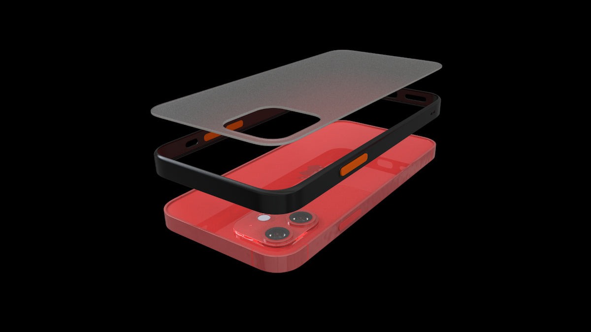 iPhone 12 Frosted Clear Case by Pod Accessories the makers of memory foam tips for AirPods pro