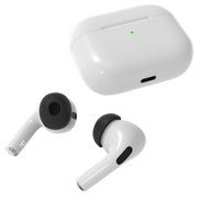 Foam attachment replacement for Apple AirPods Pro ear buds. Charging case and AirTips Pro memory foam fits AirPods Pro. #color_black