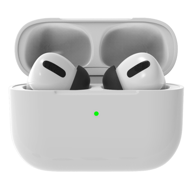 AirPods Pro replacement foam tips compatible with silicone apple tips. Made to fit in charging case. Improve noise cancellation, reduce ear pain caused by silicone AirPods Pro tips. airpods hurt my ears