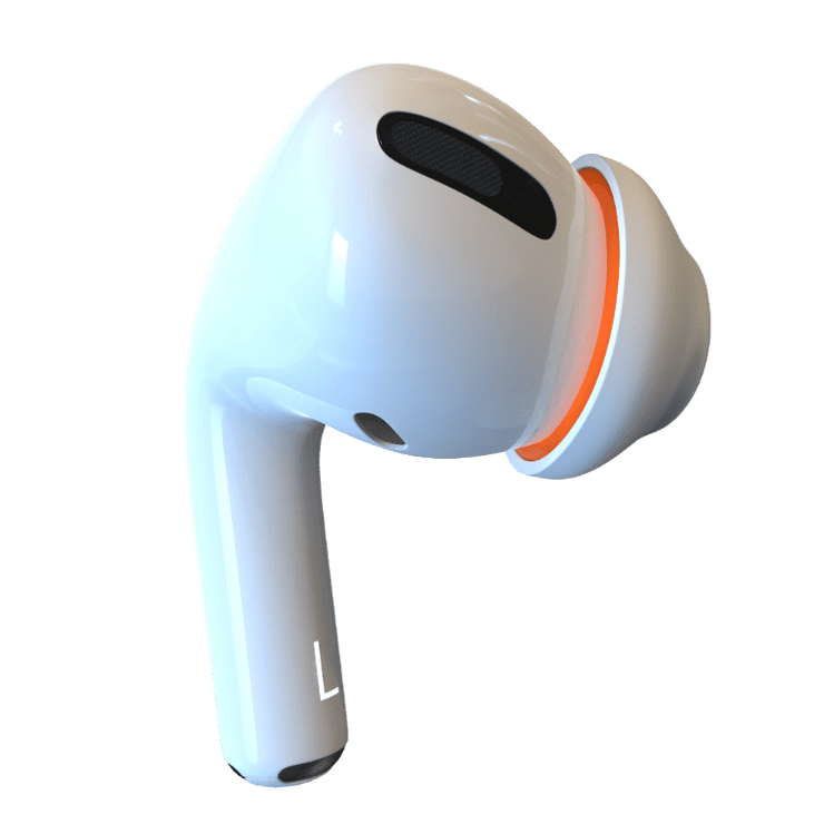 Dual Hybrid attachments fit Apples AirPods Pro silicone tips to create an extra memory foam layer. For extra large ears, new active style.