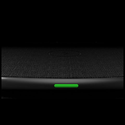 Volt Pad with LED green light indicator. Soft wireless charging pad for the Apple phone. 15W usb output.