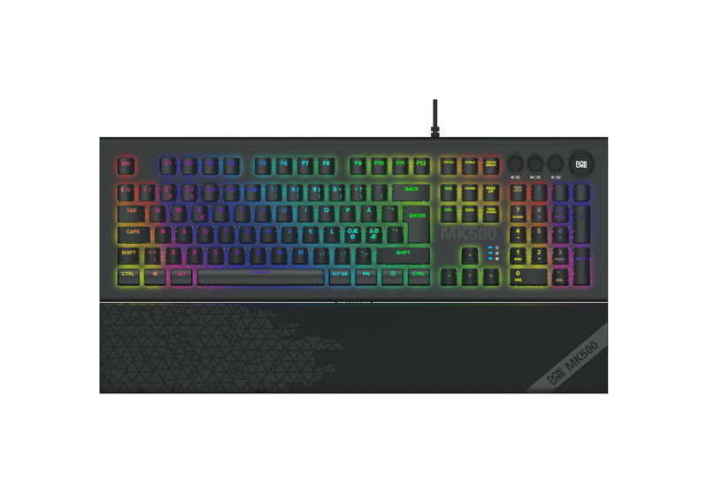 DON ONE - MK500 RGB Mekanisk Keyboard - Red Switch