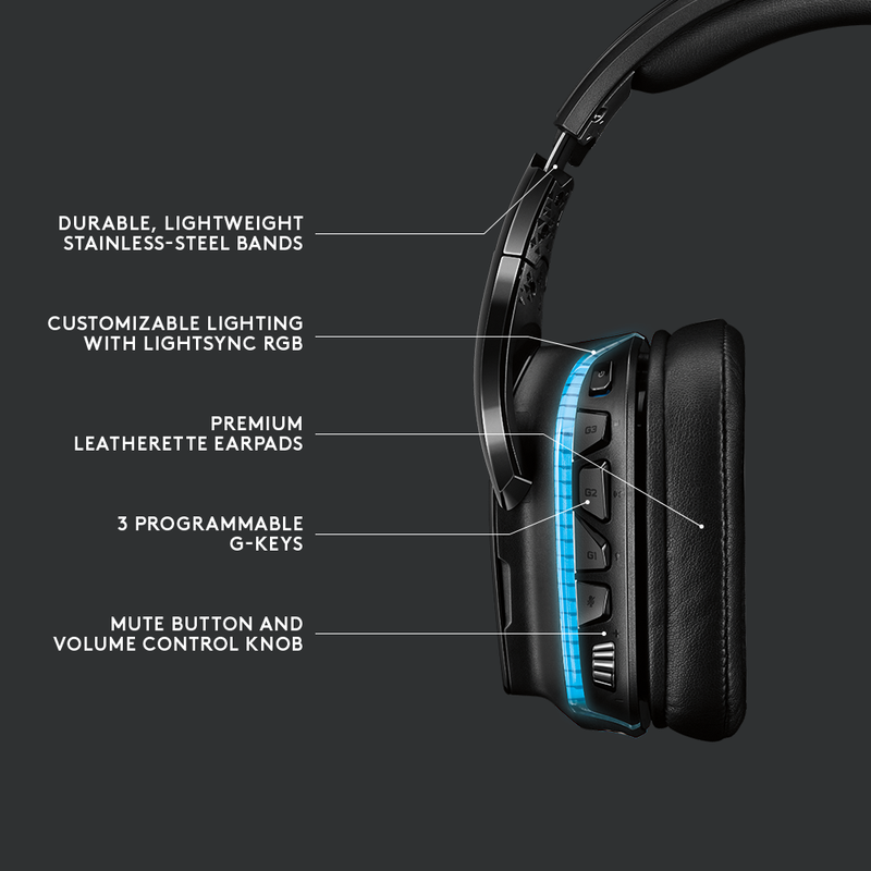 Logitech G935 Wireless 7.1 LIGHTSYNC Gaming Headset