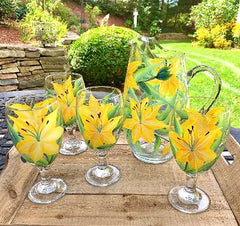 Yellow Lilies 5-pc Entertaining Set
