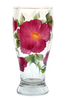 Pink Beach Roses Pilsner Glass - Wineflowers