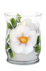 White Beach Roses Candle - Wineflowers