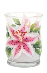 Stargazer Lilies Candle Holder