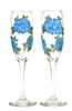 Blue Hydrangeas Champagne Flutes - Wineflowers