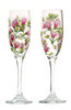 Pink Rosebud Champagne Flutes (Set of 2) - Wineflowers