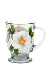 White Beach Rose Cafe Mug