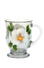 White Beach Rose Cafe Mug - Wineflowers