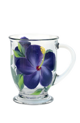 Purple Hibiscus Cafe Mug