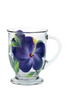Purple Hibiscus Cafe Mug - Wineflowers