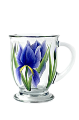 Purple Iris Cafe Mug