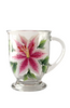 Stargazer Lilies Cafe Mug - Wineflowers