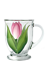 Pink & White Tulips Cafe Mug