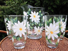 5-Piece White Daisies Hostess Set