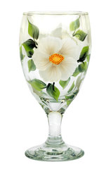 White Beach Roses Goblet