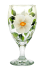 White Beach Roses Goblet - Wineflowers