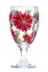 Red Daisy Goblet