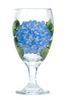 Blue Hydrangeas Goblet - Wineflowers