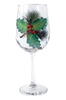 Holly Days Wine Glass