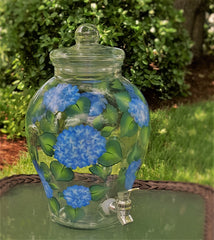 Blue Hydrangeas Beverage Dispenser