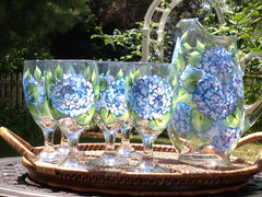 Classic Hydrangeas 7-Piece Entertaining Set