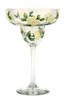 White Forget-Me-Nots Margarita Glass - Wineflowers