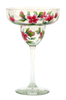 Red Forget-Me-Nots Margarita Glass - Wineflowers
