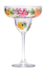 Summer Daisies Margarita Glass