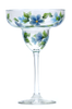 Blue Forget-Me-Nots Margarita Glass - Wineflowers