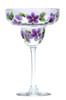 Purple Forget-Me-Nots Margarita Glass - Wineflowers