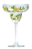 Yellow Forget-Me-Nots Margarita Glass - Wineflowers