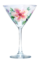 Cherry Blossoms Martini Glass