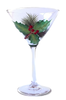 Holly-Days Martini Glass