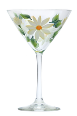 Creamy Daisies Martini Glass