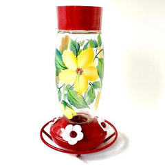 Yellow Hibiscus Deluxe Hummingbird Feeder