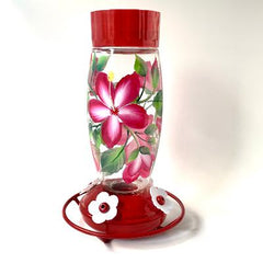 Red Hibiscus Deluxe Hummingbird Feeder