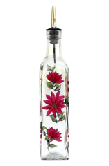 Red Daisies Olive Oil Bottle