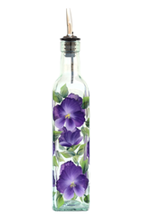 Pansies Olive Oil Bottle